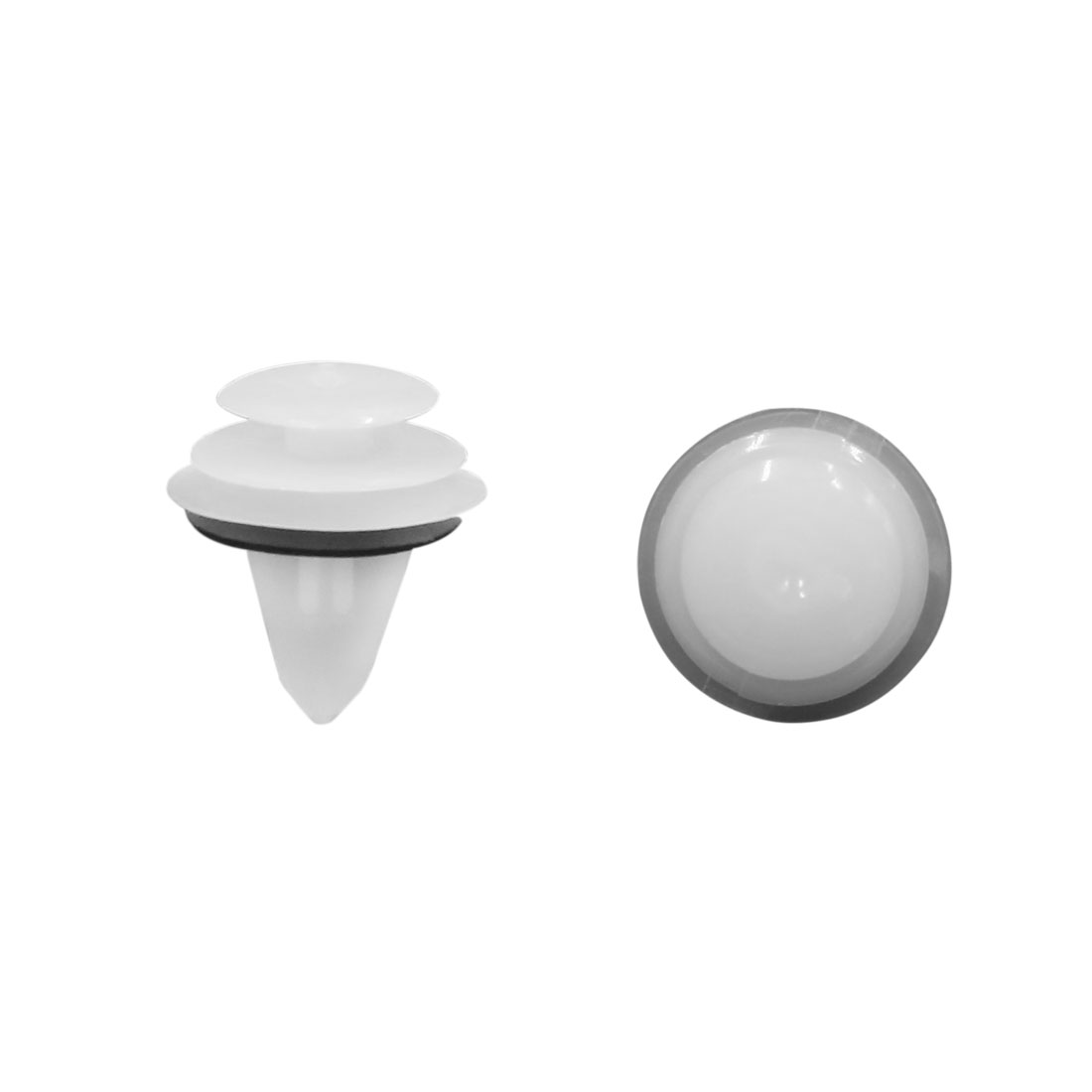 50 Pcs White Plastic Push in Type Rivets Fastener Buckle for Car Door bumper
