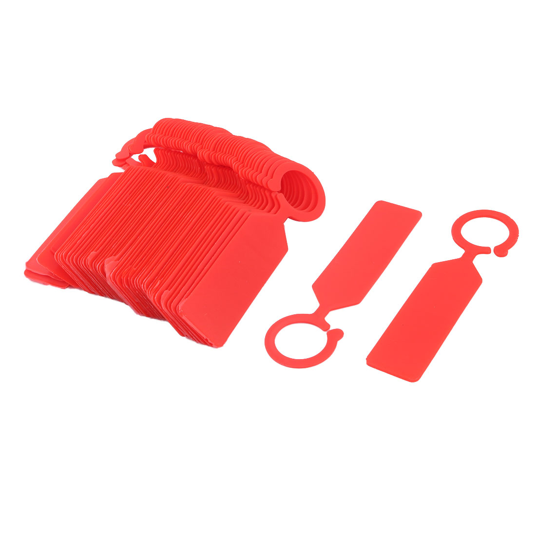Family Outdoor Garden Plastic Seed Name Marking Tag Label Marker Red 50 Pcs