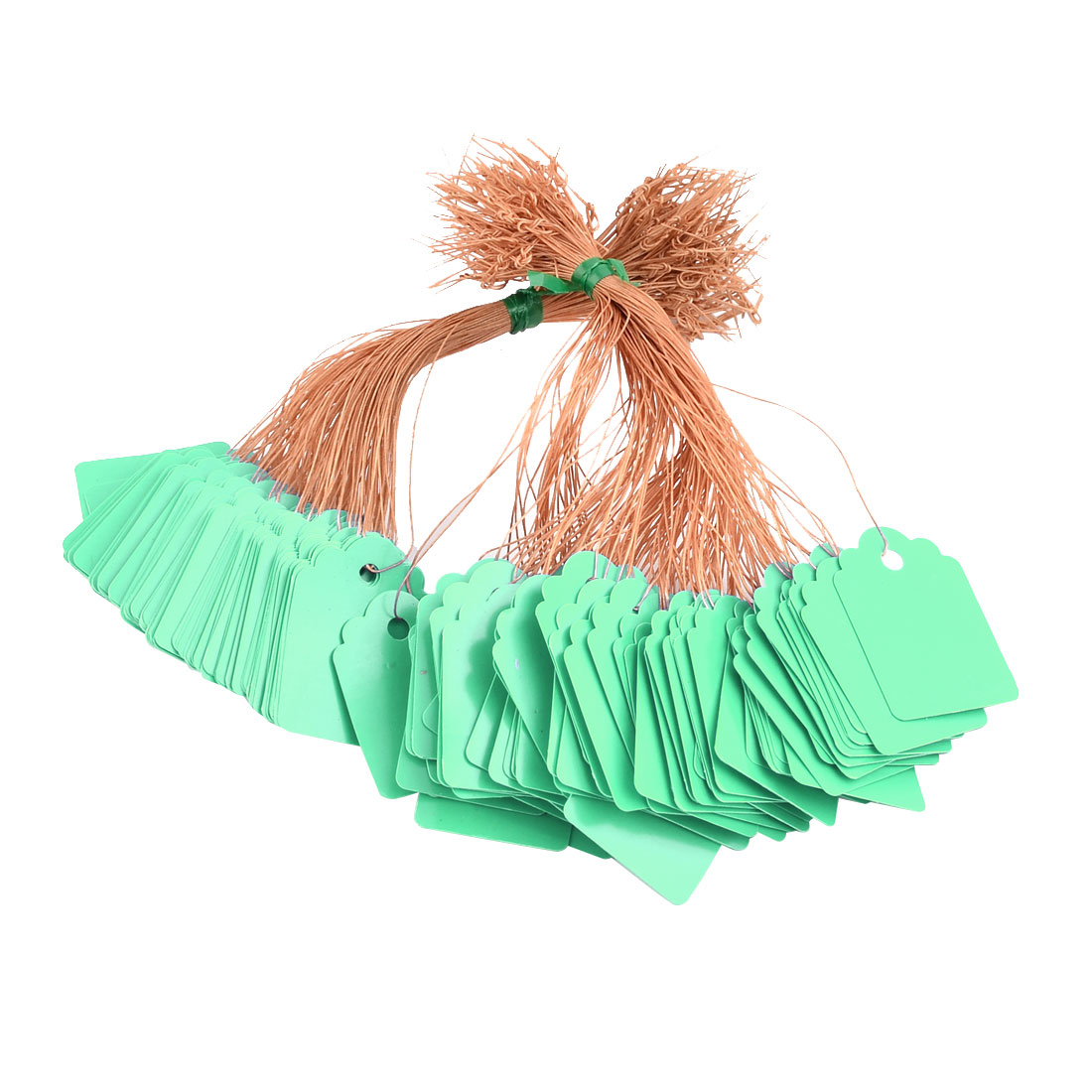 Outdoor Plastic Hanging Flower Plant Name Tag Label Marker Sign Green 200pcs