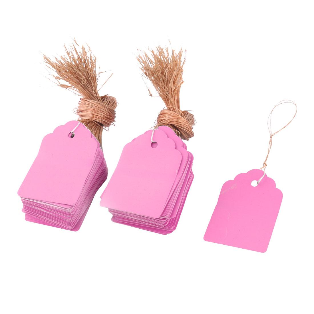 Yard Plastic Plant Flower Seed Hanging Name Tag Label Marker Pink 6 x 4cm 200pcs