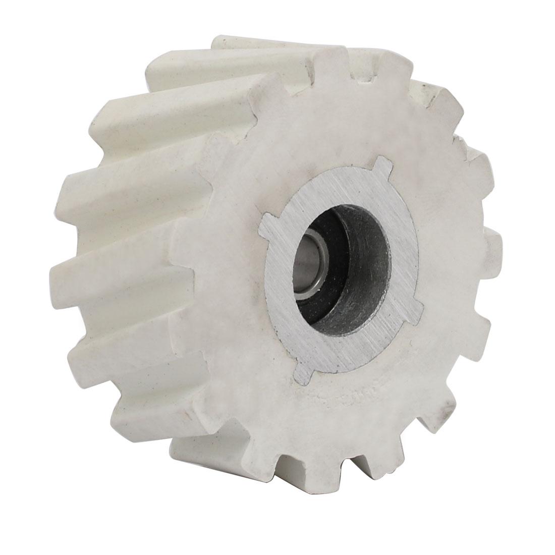 65mmx8mmx28mm Bearing Steel Rubber Pinch Roller Edgebanding Wheel Pulley White
