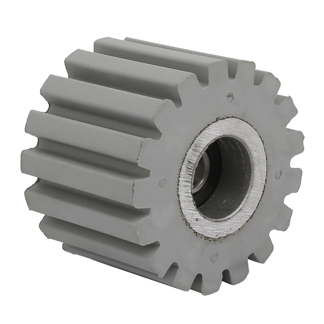 53mmx8mmx40mm Bearing Steel Rubber Straight Line Pinch Roller Pulley Gray