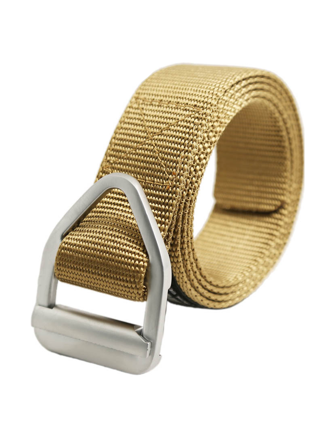 Unisex Military Outdoor Canvas Nylon Web Belt 35mm Width 1 3/8 Khaki