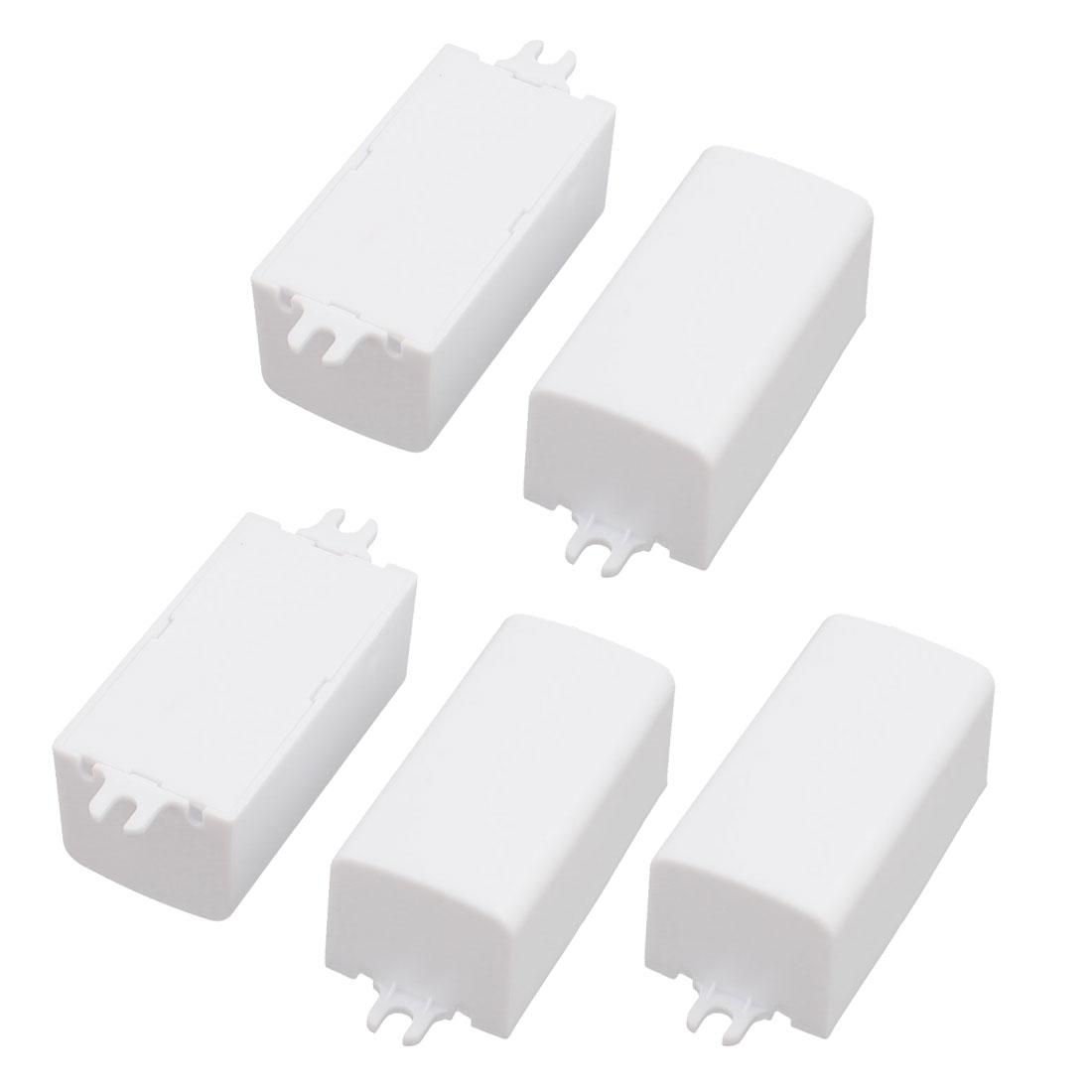 5 Pcs XL111 53x27x23mm PC Flame Retardant Enclosure Junction Box for LED Driver