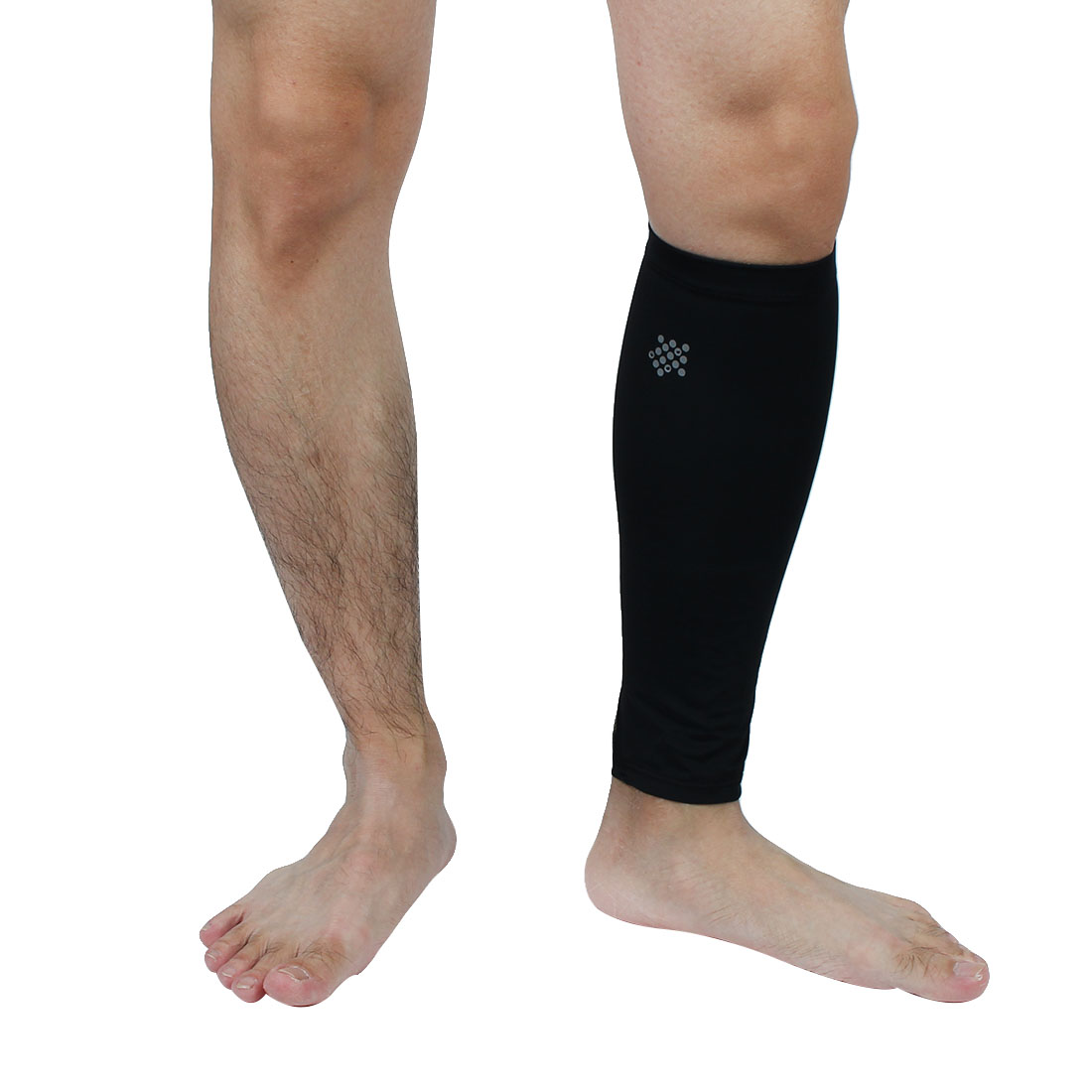 Mountainpeak Authorized Unisex Spandex Football Basketball Cycling Long Support Protector Sports Leg Sleeve Black M Pair