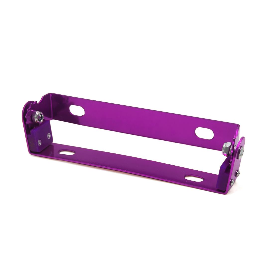 Purple Aluminum Alloy Adjustable Motorcycle License Plate Mount Holder Bracket