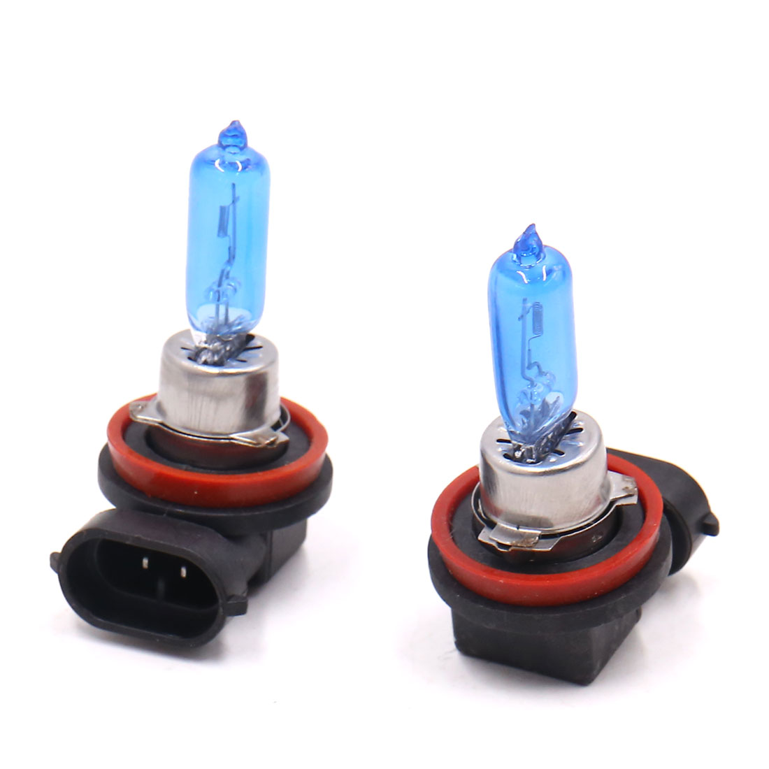 2pcs H9 12V 100W Glass Metal White Fog Light Halogen Lamp Xenon Bulb for Car