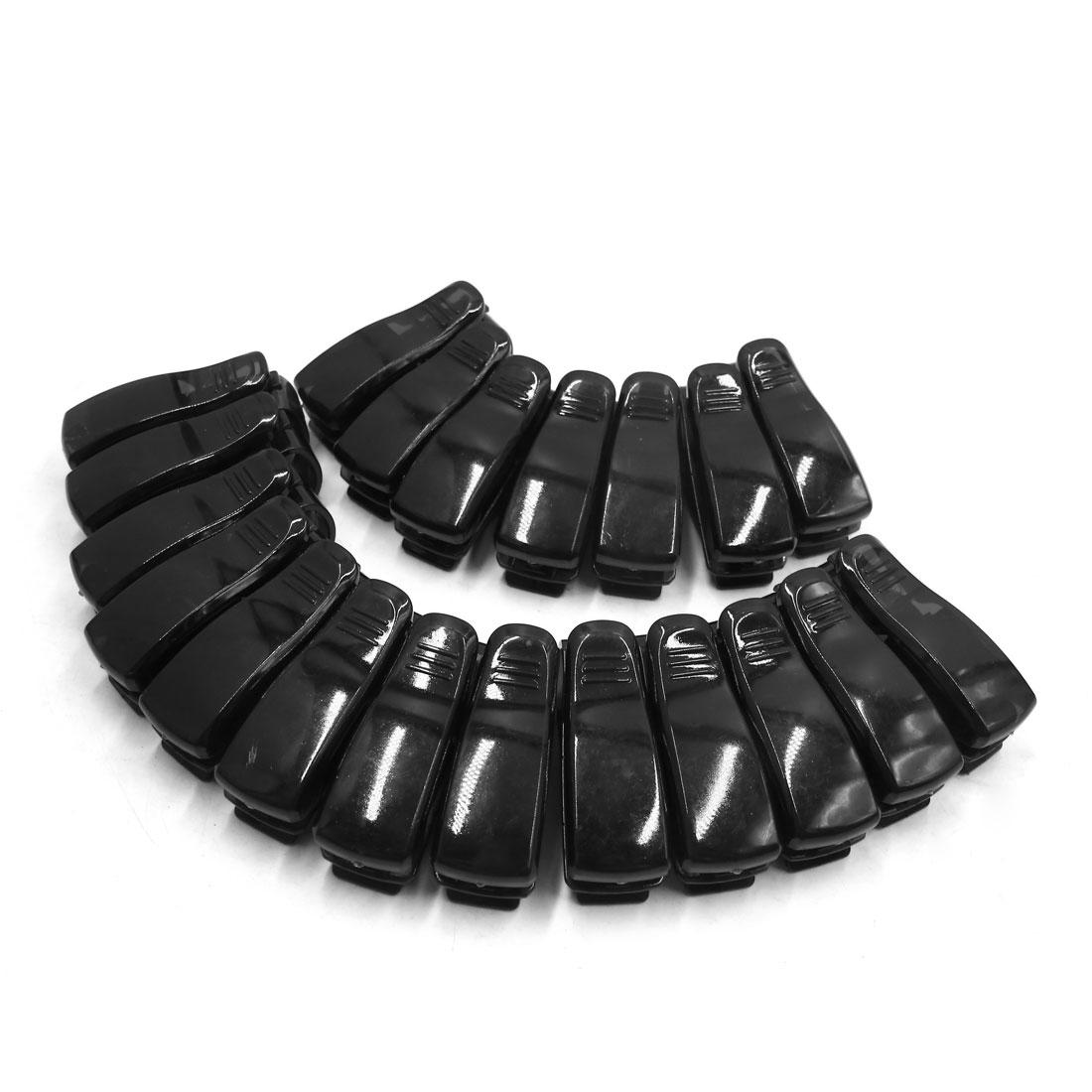 20Pcs Black Plastic Car Auto Sun Visor Sunglasses Eyeglasses Card Holder Clip