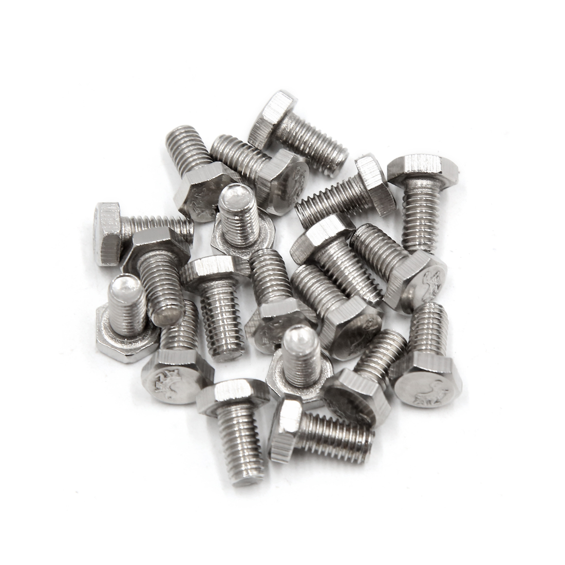 20Pcs M6 x 12mm 304 Stainless Steel Car Motorcycle Hex Socket Head Screws Bolts