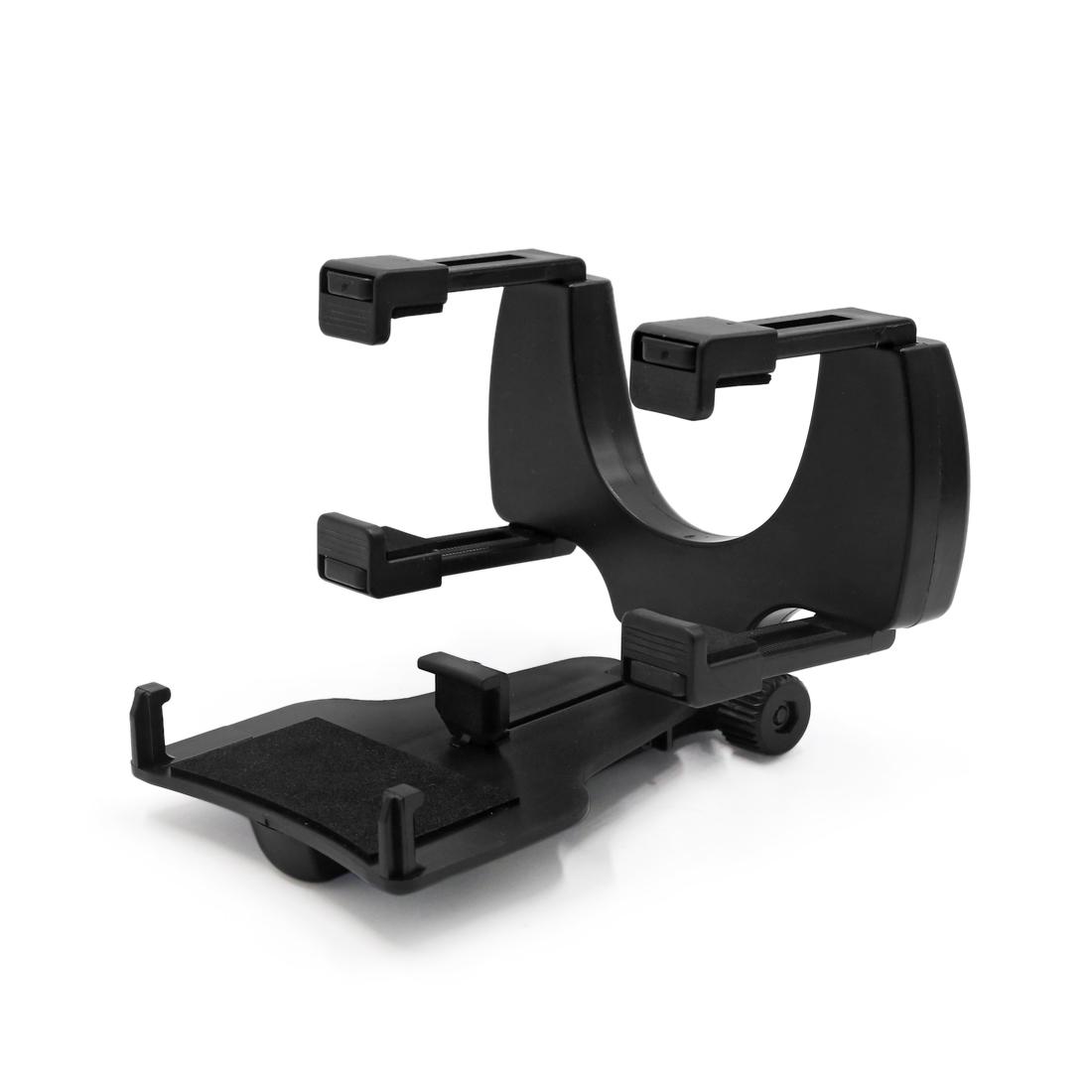 Adjustable Rearview Mirror Mount Mobile Phone GPS Holder Bracket Black for Car