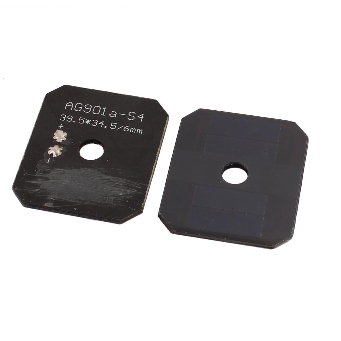 2 Pcs 39.5mm x 34.5mm 2V 40mA Monocrystalline Silicon N Type Solar Panel