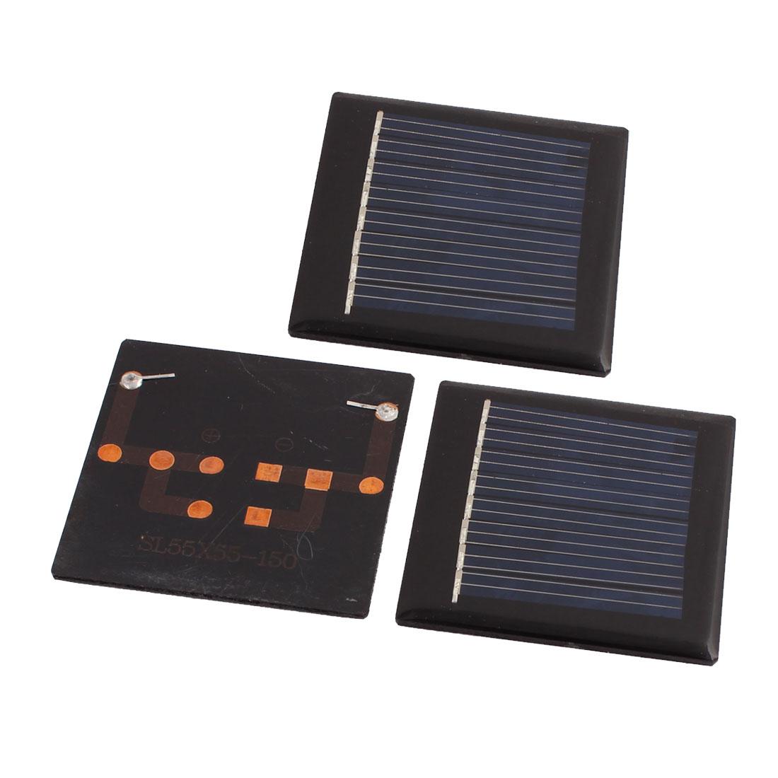 3Pcs 4V 40mA Solar Cell Panel Module Charging Board 55mm x 55mm