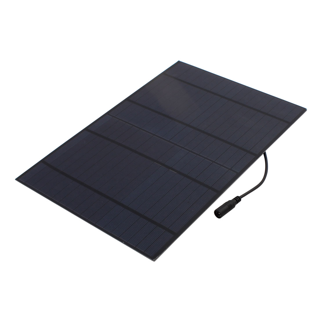 18V 10W Polycrystalline Solar Panel Battery Charger w Car Charger Adapter Cable