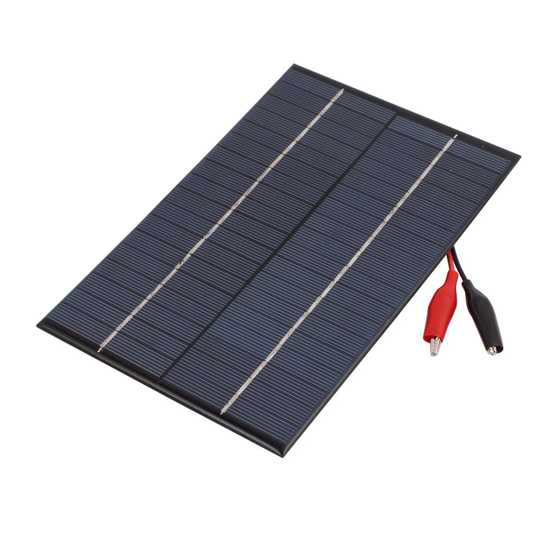 18V 4.2W Solar Panel Battery Charger w Alligator Clip Adapter Cable