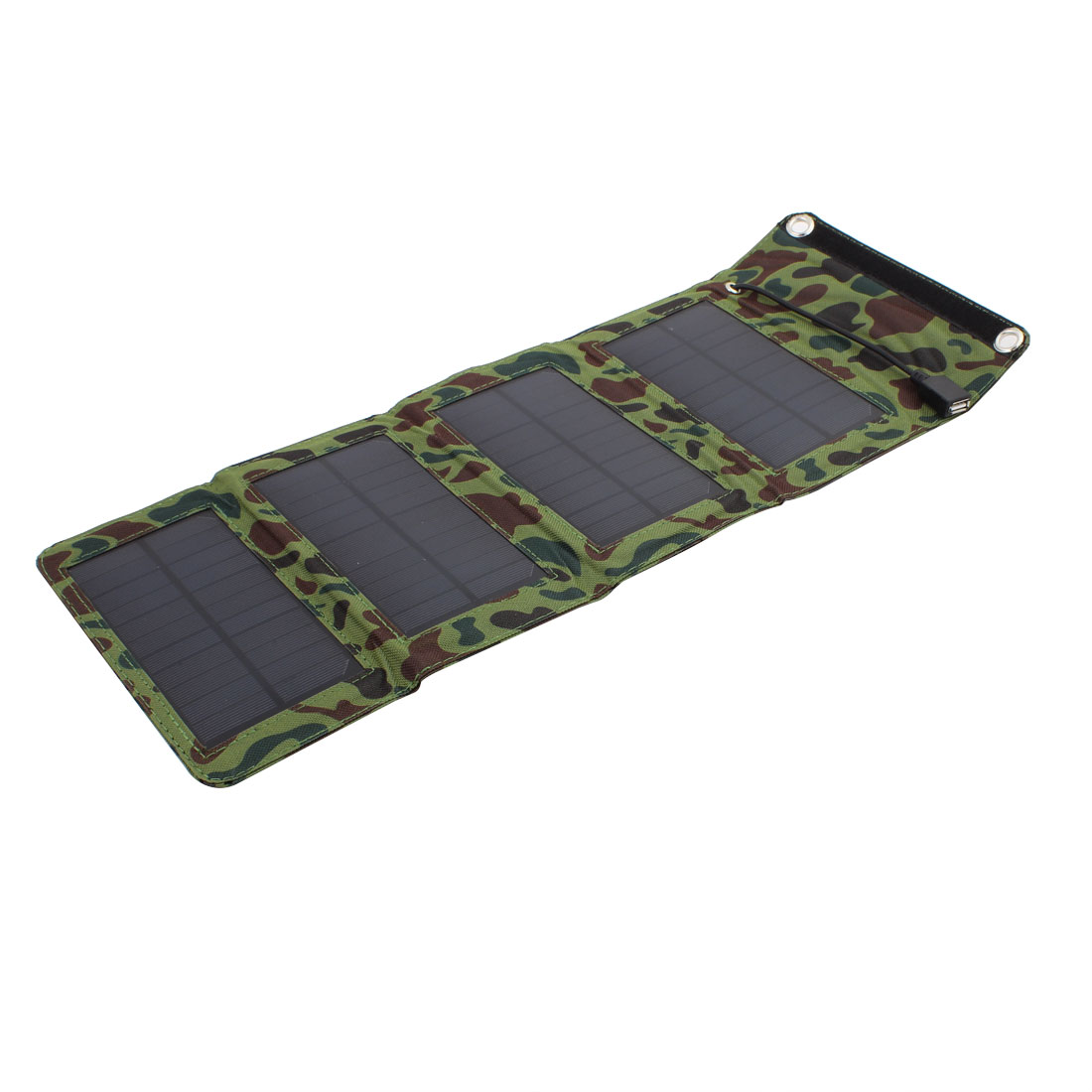 7W One Ports USB Foldable Portable Outdoors Solar Panel Charger Camouflage