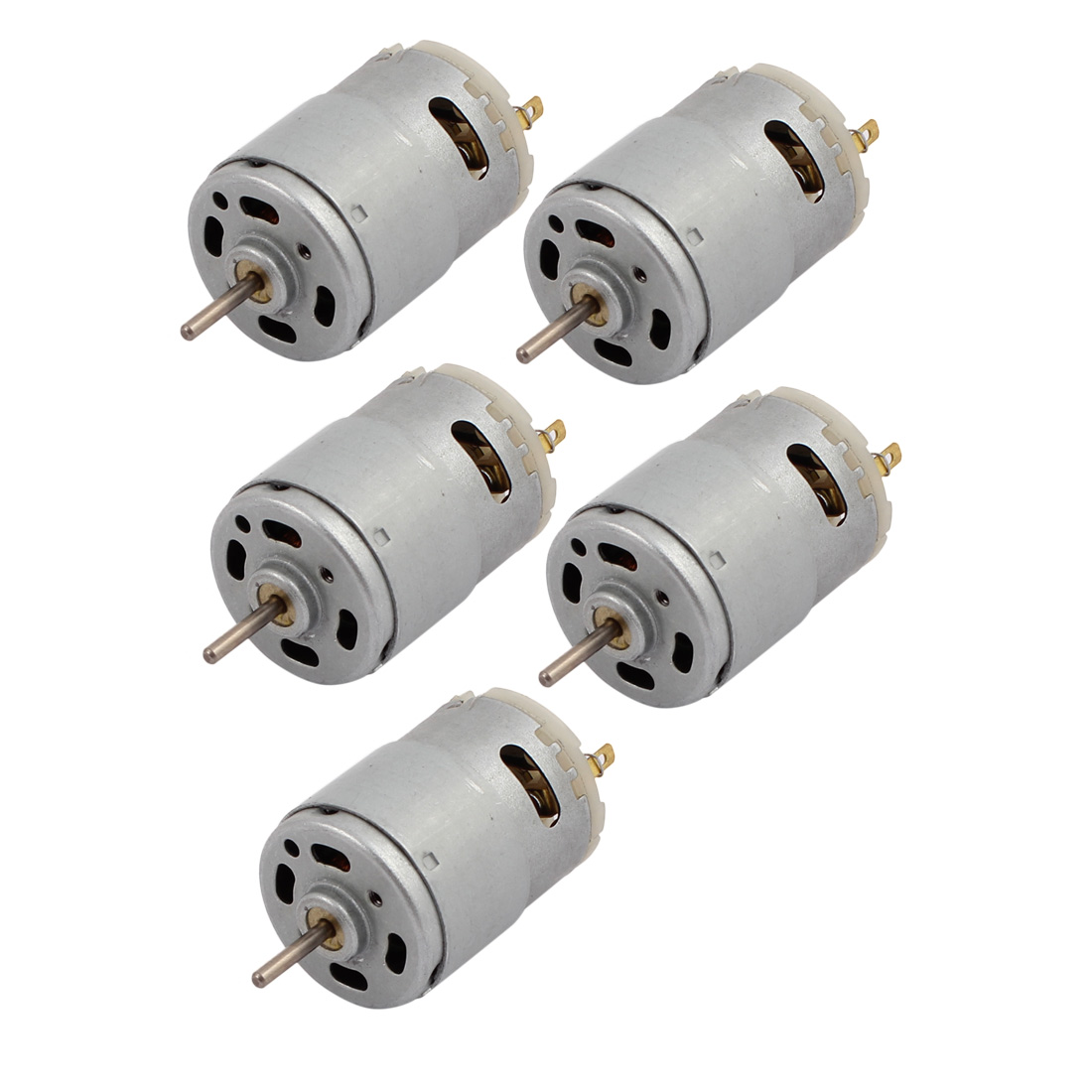 5PCS R385 DC 12V 6500RPM Electric Ring Covered Motor w Carbon Brush