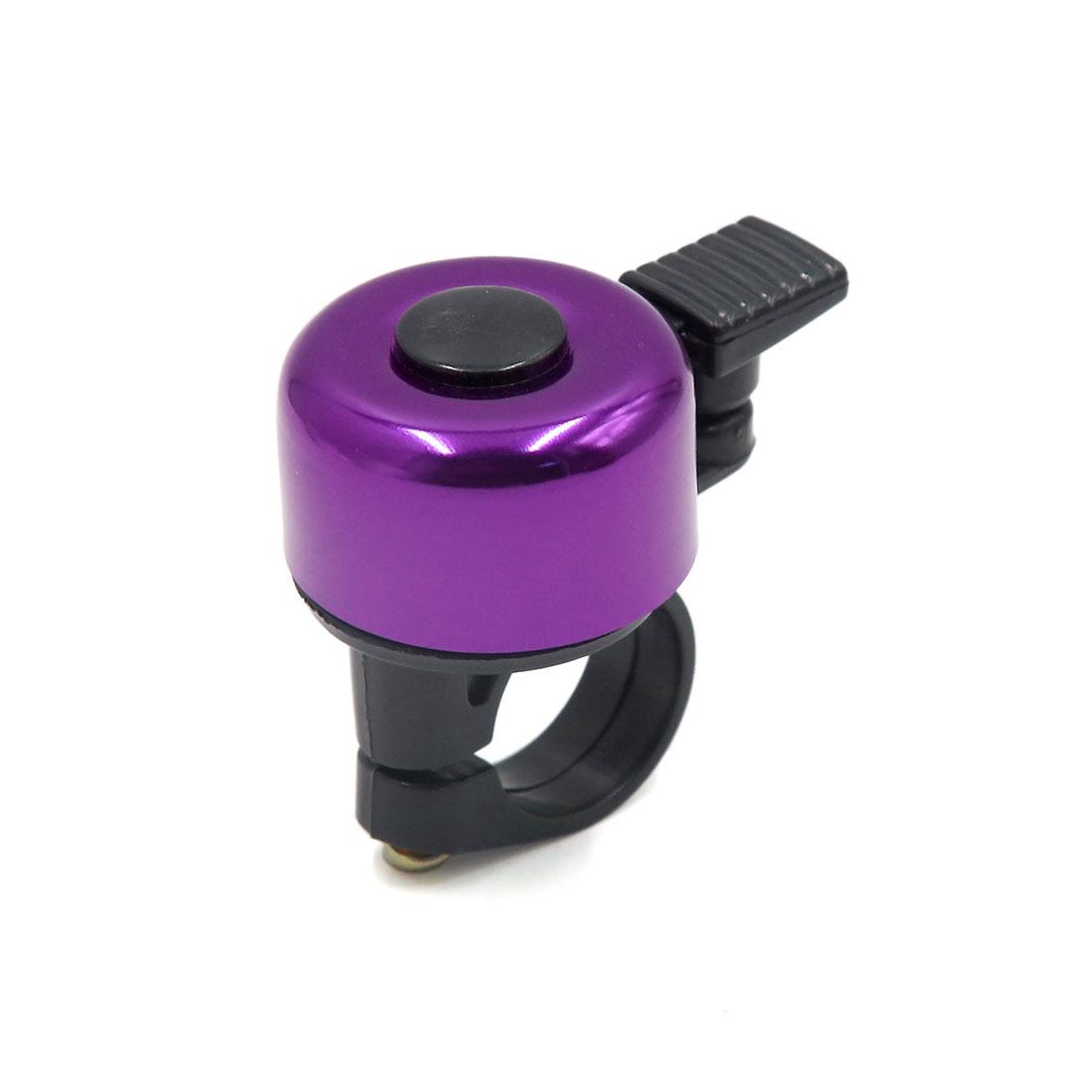 Purple Metal Plastic Mini Bicycle Bike Cycling Handlebar Bell Horn Ring Alarm