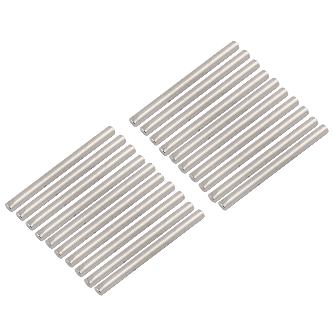 20Pcs Round Shaft Rods Axles 304 Stainless Steel 3mm x 40mm for RC Car