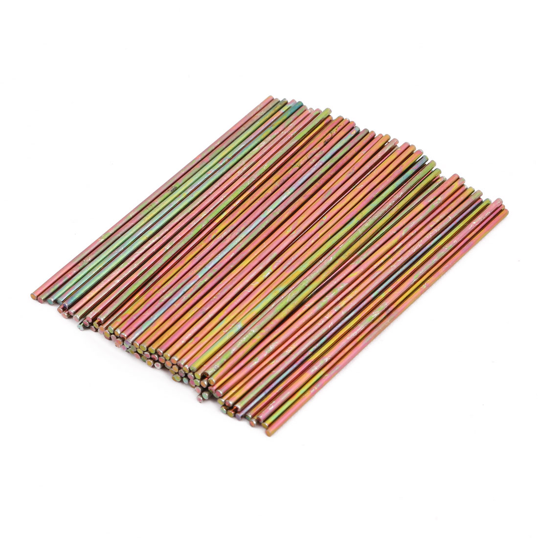 100Pcs Round Shaft Solid Durable Metal Rods Axles 1.4mm x 74mm
