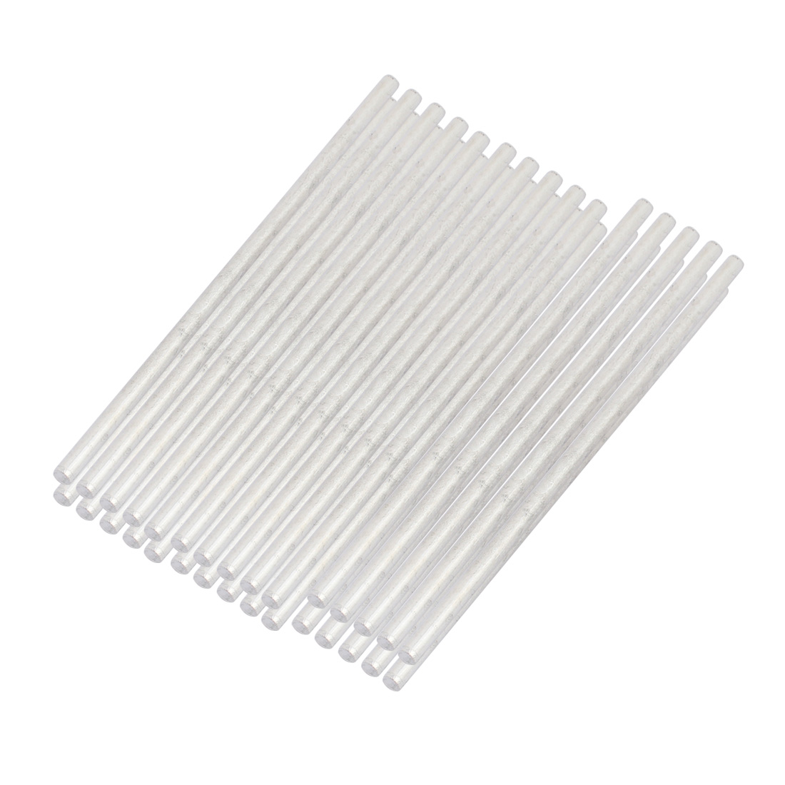 20Pcs Round Shaft Solid Steel Rods Axles 3mm x 90mm Silver Tone
