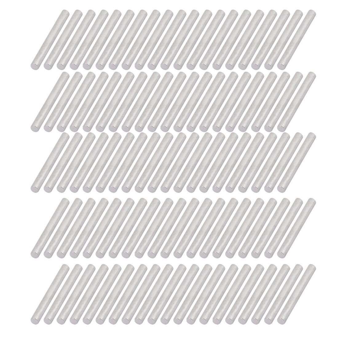 100Pcs Round Shaft Solid Steel Rods Axles Silver Tone 2mm x 18mm