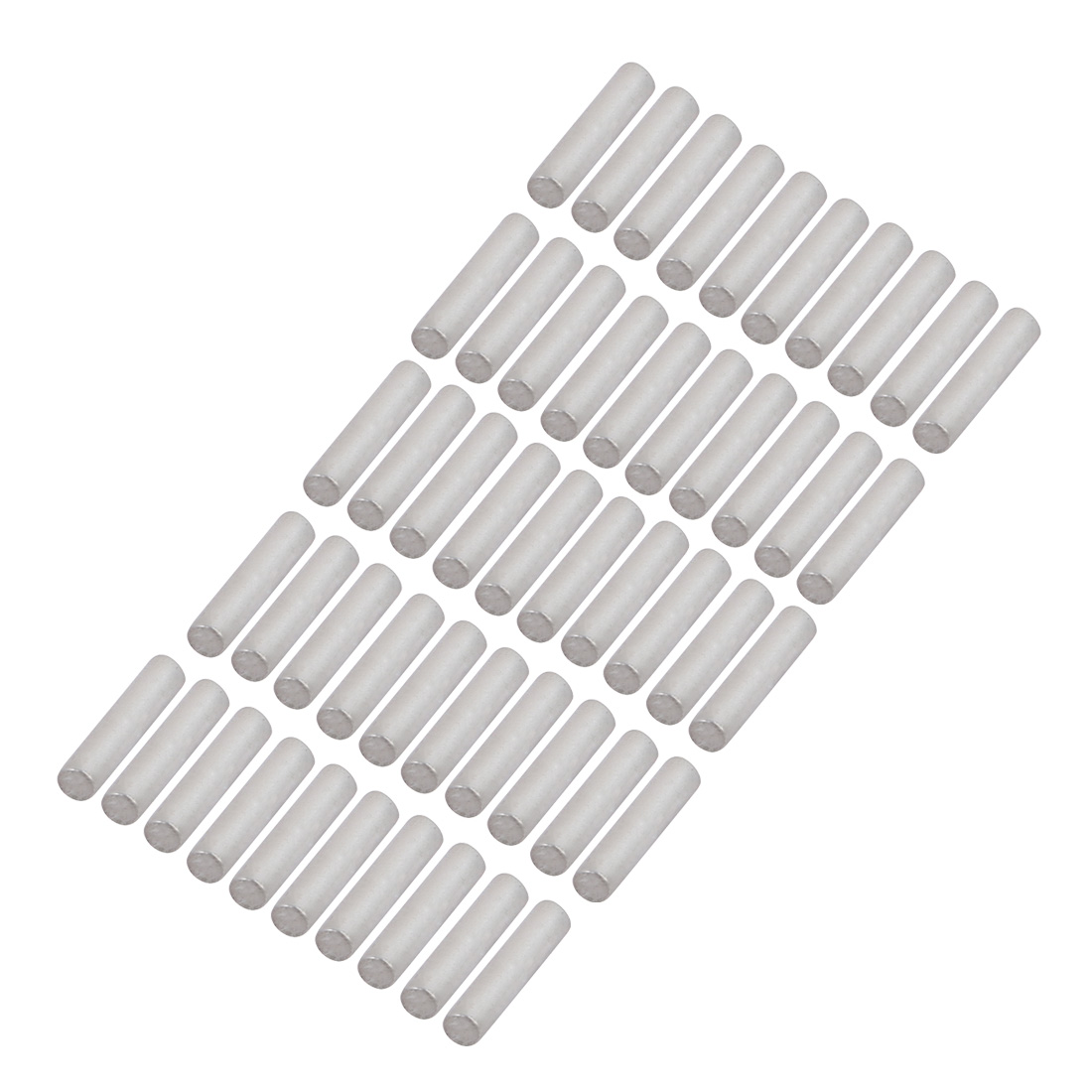 50Pcs Round Shaft Solid Durable Steel Rods Axles 2mm x 9mm Silver Tone