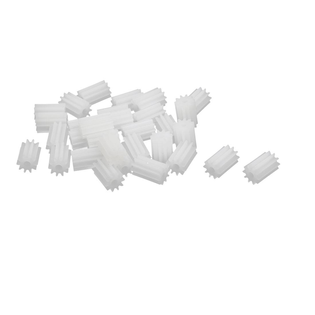30pcs 10 Teeth 6mm Dia Plastic Gear Wheel for Car Motor Shaft