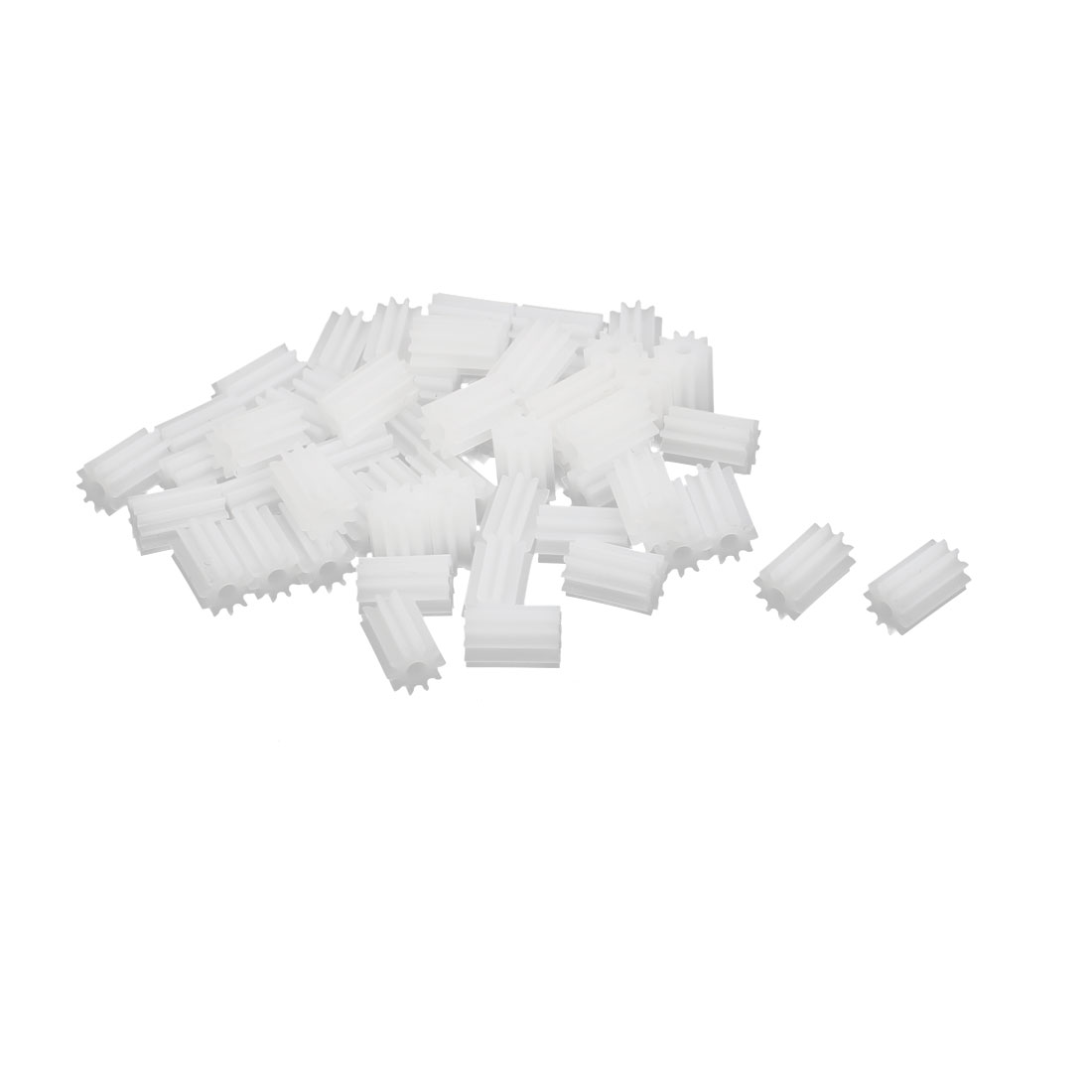 50pcs 10 Teeth 6mm Dia Plastic Gear Wheel for Car Motor Shaft