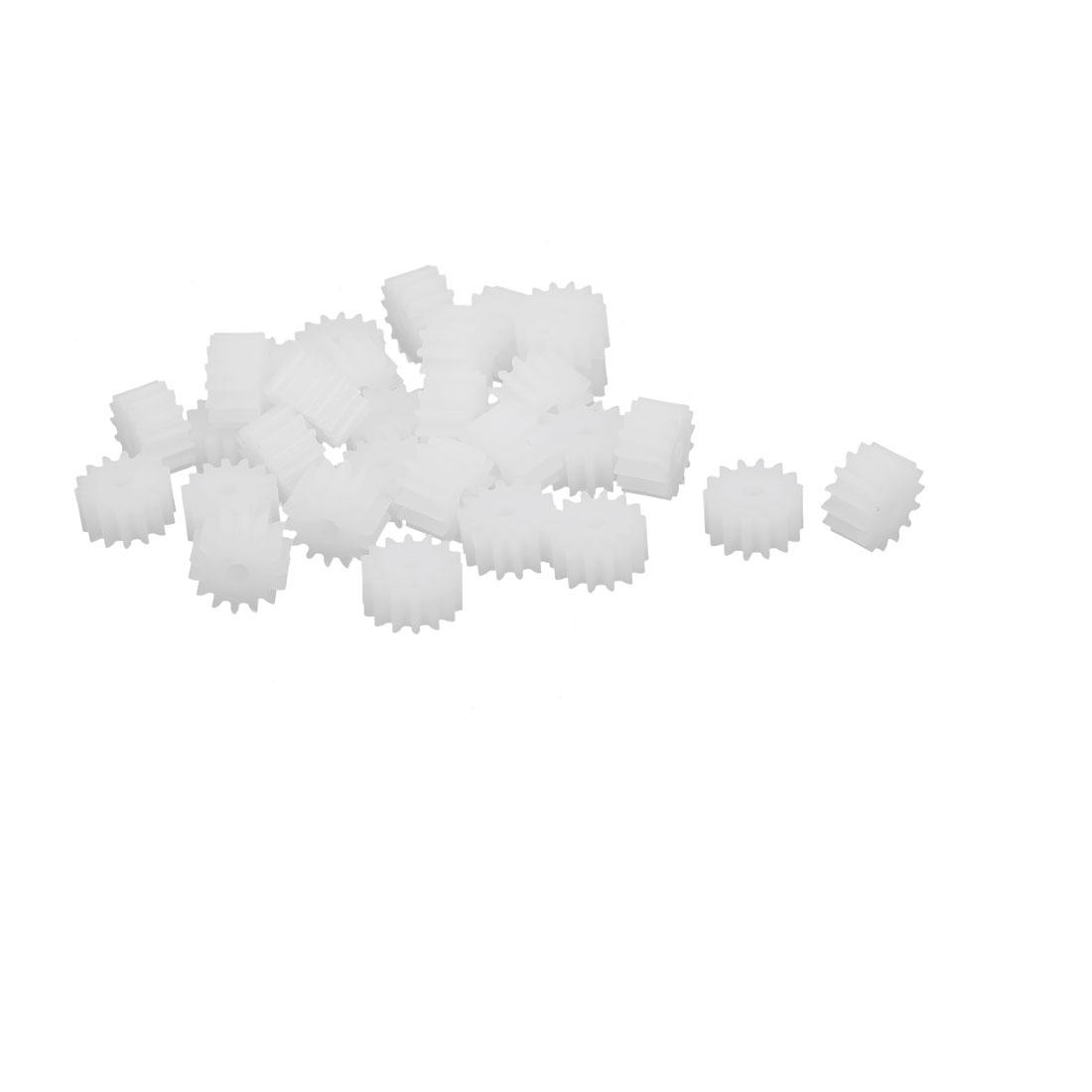 30pcs 14 Teeth 8mm Dia Plastic Gear Wheel for Toy Car Motor Shaft
