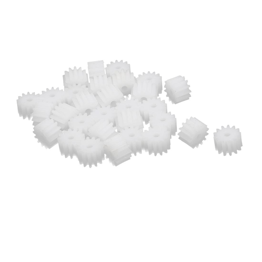 30pcs 13 Teeth 7.5mm Dia Plastic Gear Wheel for Car Motor Shaft