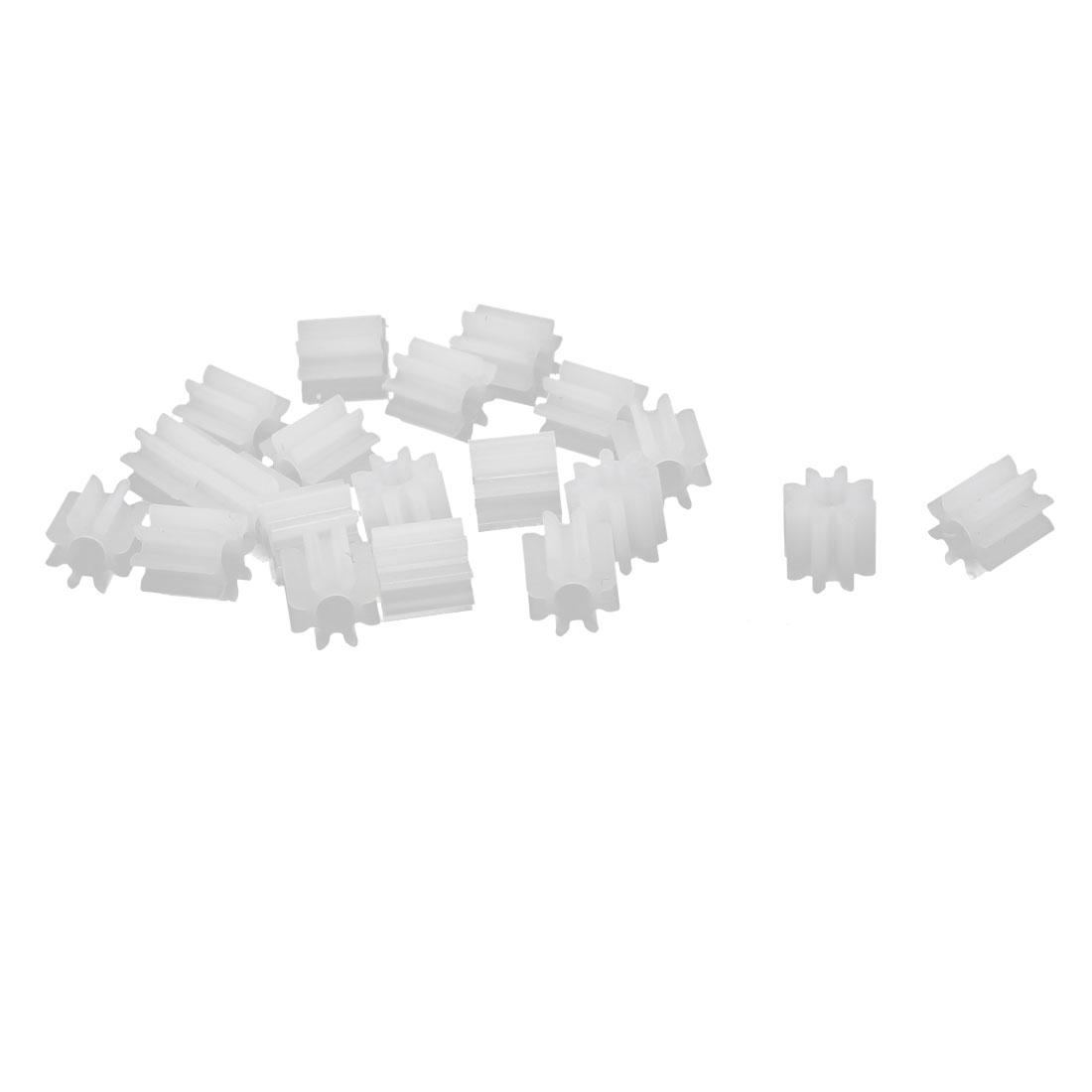 20pcs 8 Teeth 5mm Dia Plastic Gear Wheel for Toy Car Motor Shaft