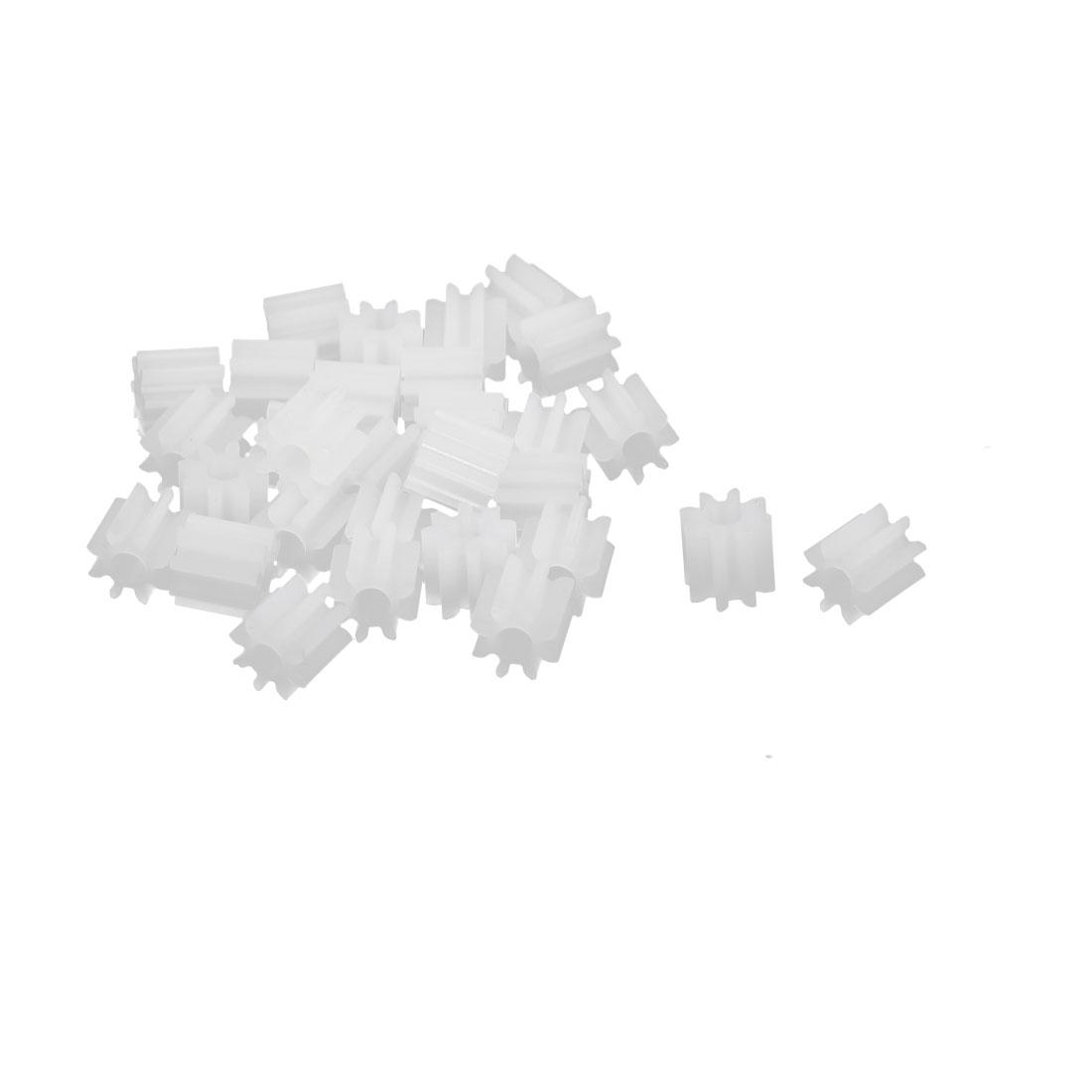 30pcs 8 Teeth 5mm Dia Plastic Gear Wheel for Toy Car Motor Shaft