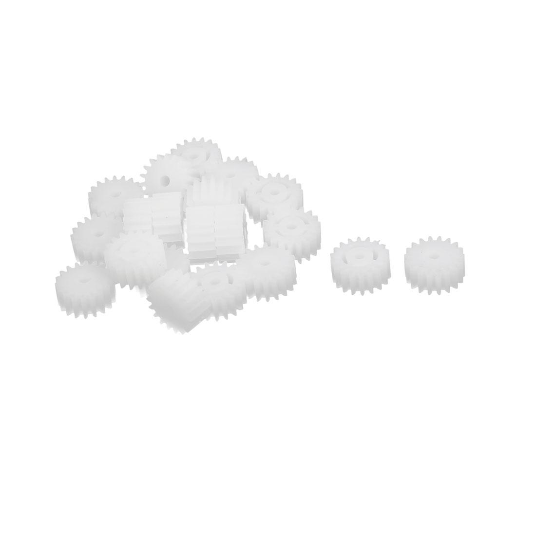 20pcs 18 Teeth 10mm Dia Plastic Gear Wheel for Toy Car Motor Shaft