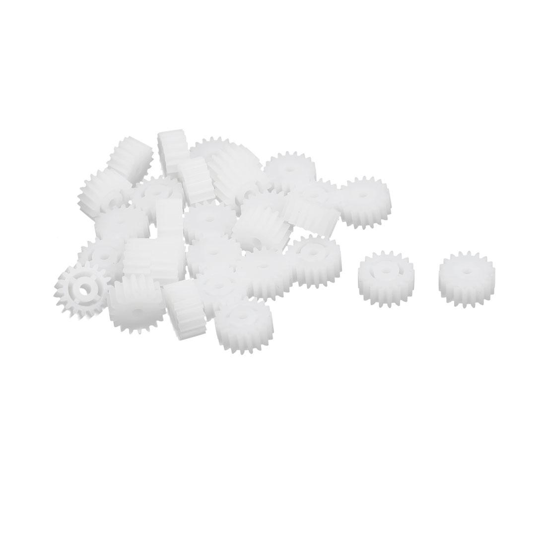 30pcs 18 Teeth 10mm Dia Plastic Gear Wheel for Car Motor Shaft