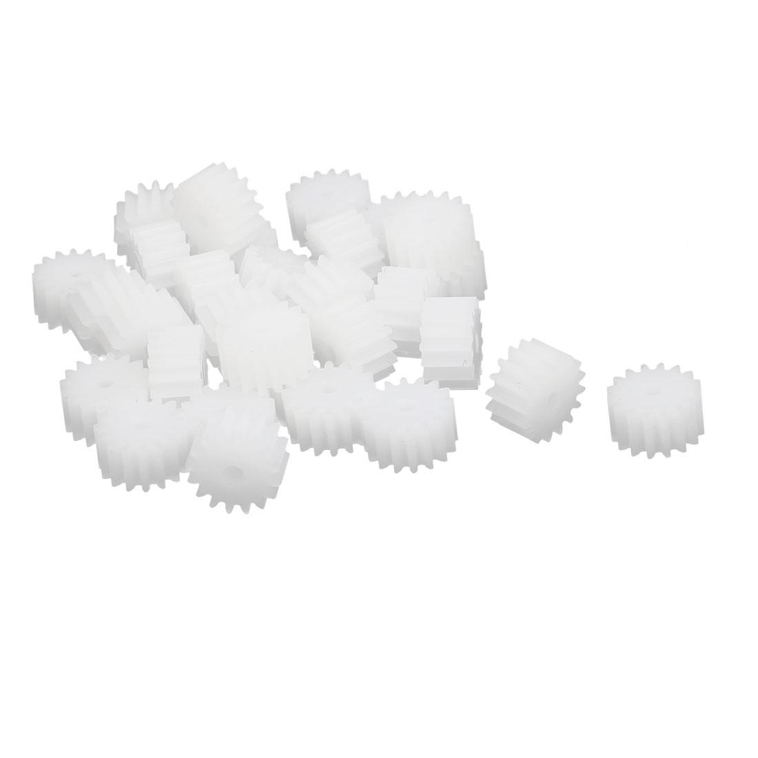 30pcs 16 Teeth 1.95mm Hole Dia Plastic Gear Wheel for Toy Car Motor Shaft