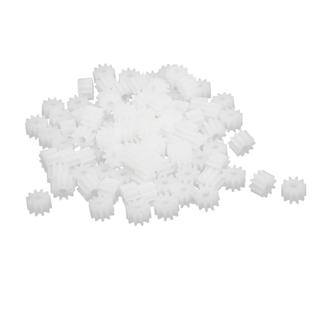 10 Teeth 1.95mm Hole Dia Plastic Gear Wheel 100pcs