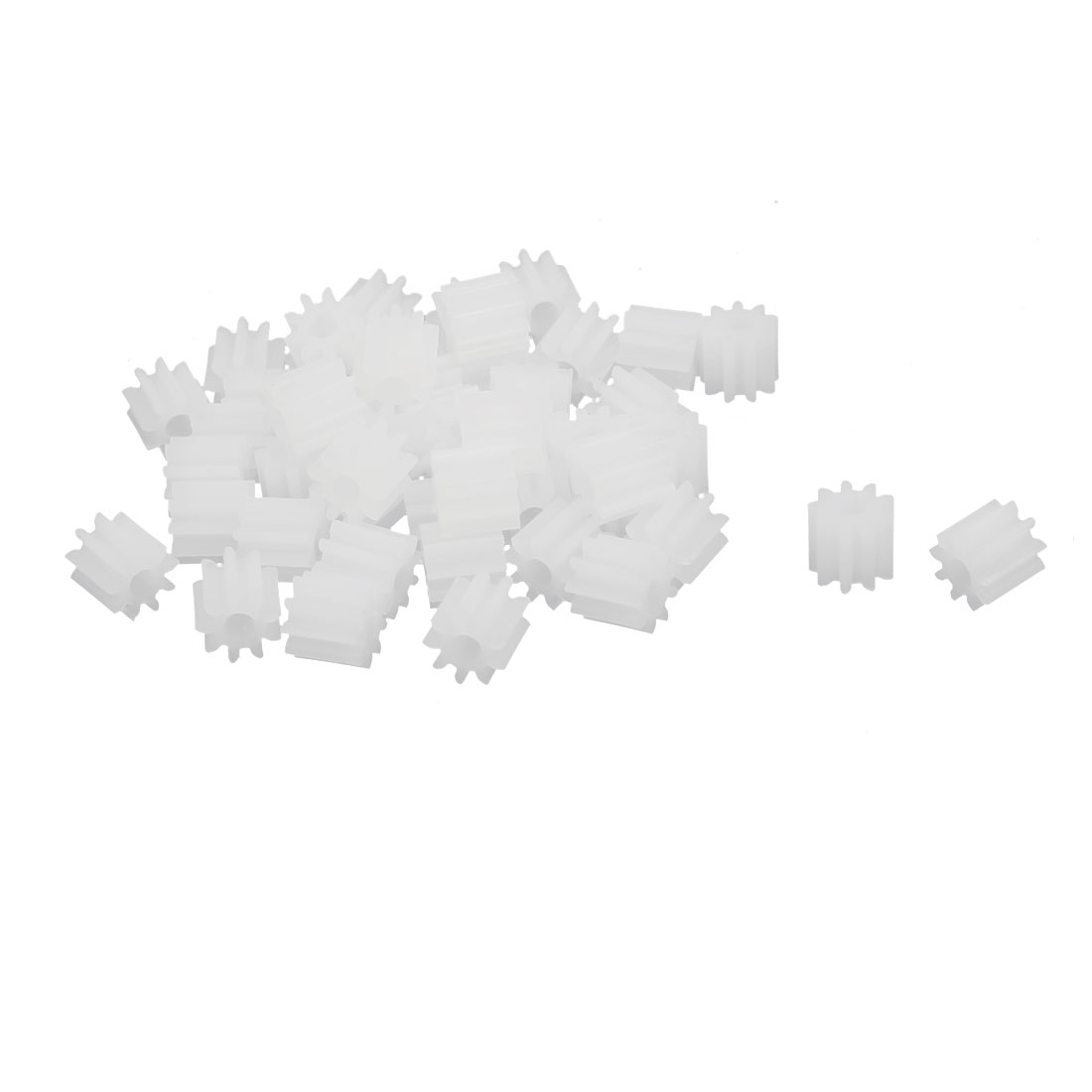 50pcs 9 Teeth 1.95mm Hole Dia Plastic Gear Wheel for Toy Car Motor Shaft
