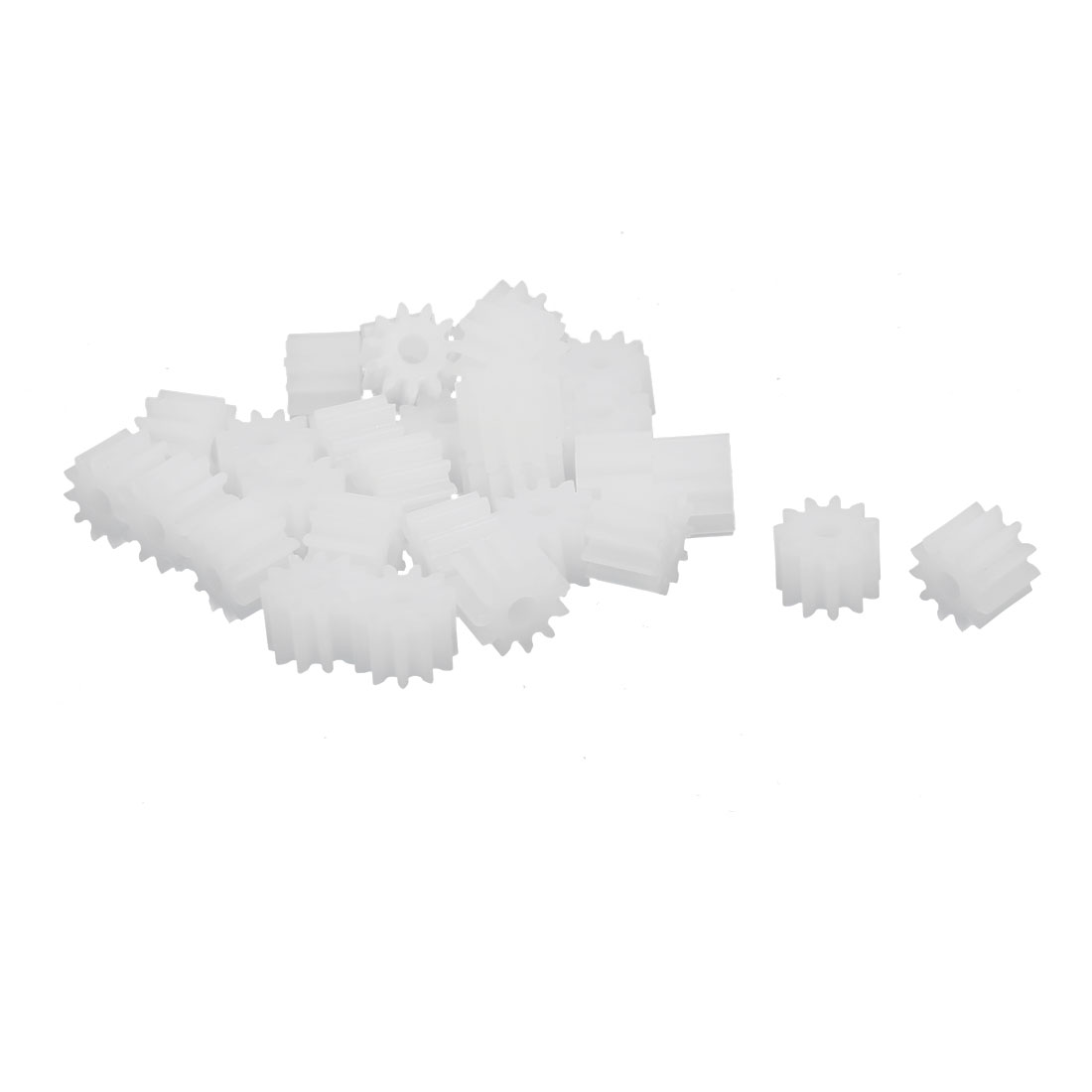 30pcs 11 Teeth 1.95mm Hole Dia Plastic Gear Wheel for RC Car Motor Shaft