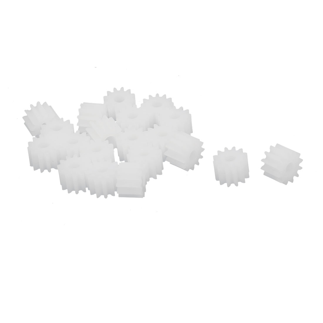 20pcs 12 Teeth 2.35mm Hole Dia Plastic Gear Wheel for RC Car Motor Shaft