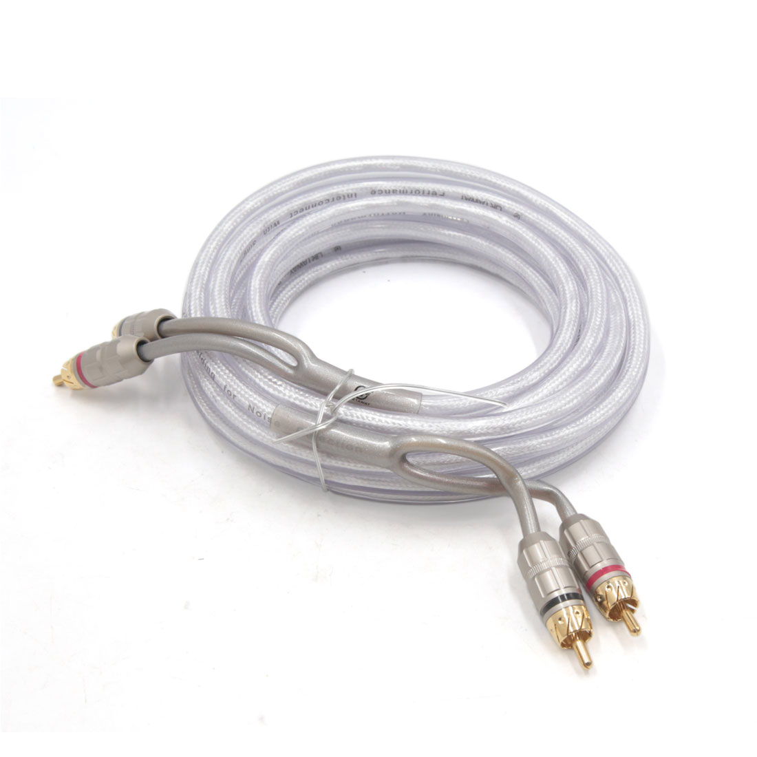 5m Length Male to Male Copper RCA Stereo Audio Cord Cable Wire Adapter for Car