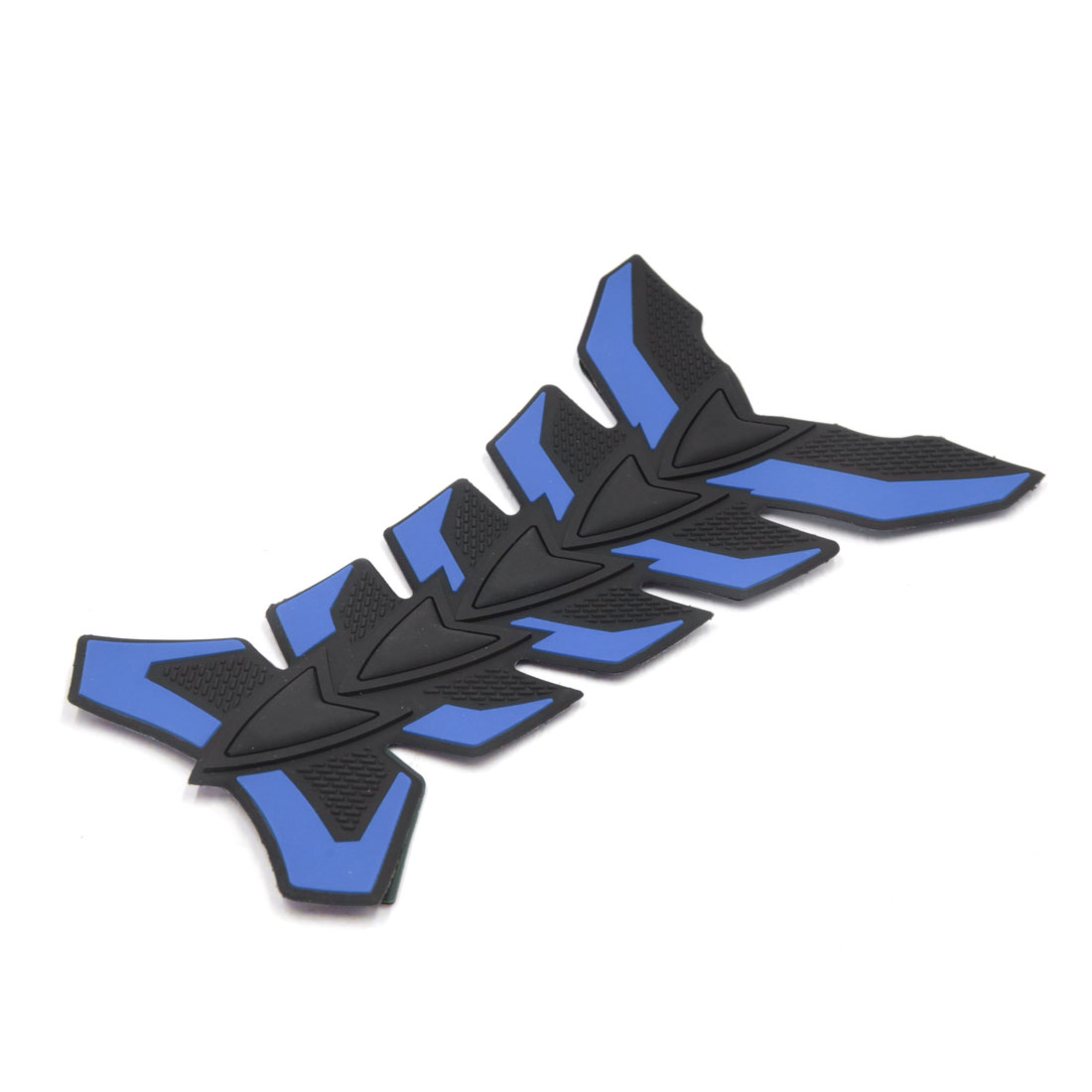 Rubber Motorcycle Oil Fuel Tank 3D Pad Sticker Protector Emblem Decal Blue Black