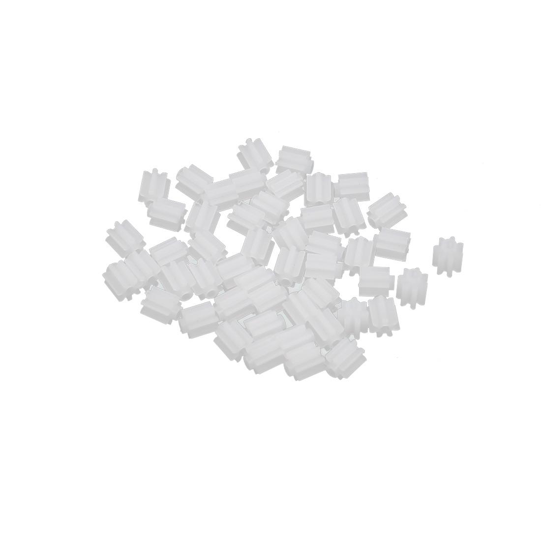50PCS 7 Teeth 0.3mm Hole Diameter Plastic Front Gear Wheel