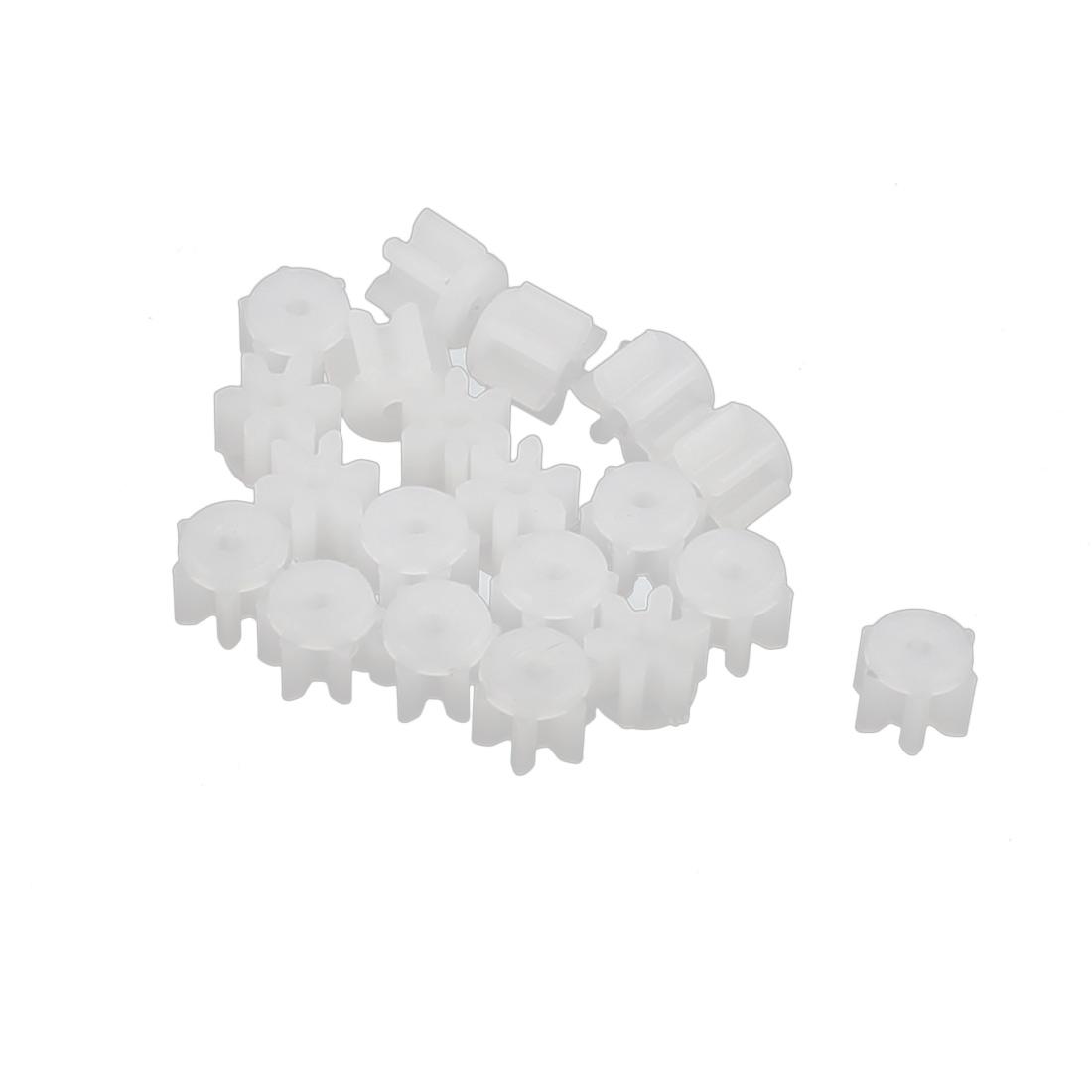 20PCS 6 Teeth 0.3mm Hole Diameter Plastic Front Gear Wheel for RC Car