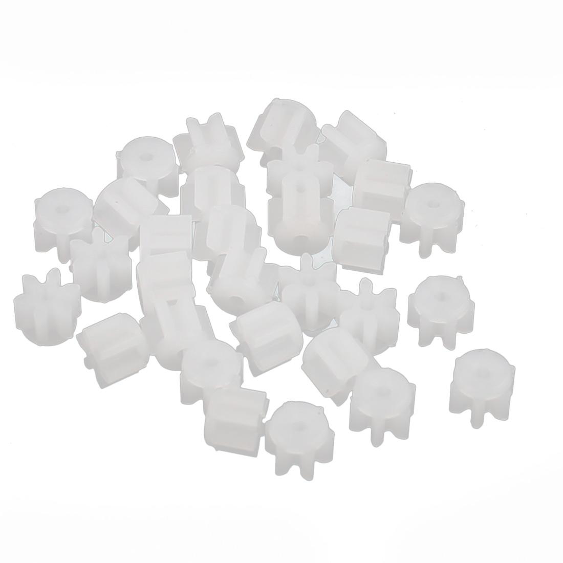 30PCS 6 Teeth 0.3mm Hole Diameter Plastic Front Gear Wheel for RC Car
