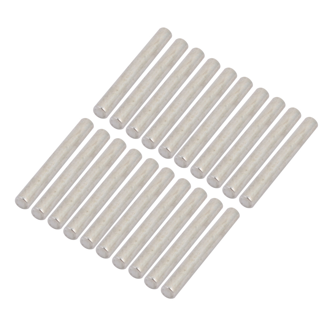 20Pcs Round Shaft Solid Steel Rods Axles 3mm x 25mm Silver Tone
