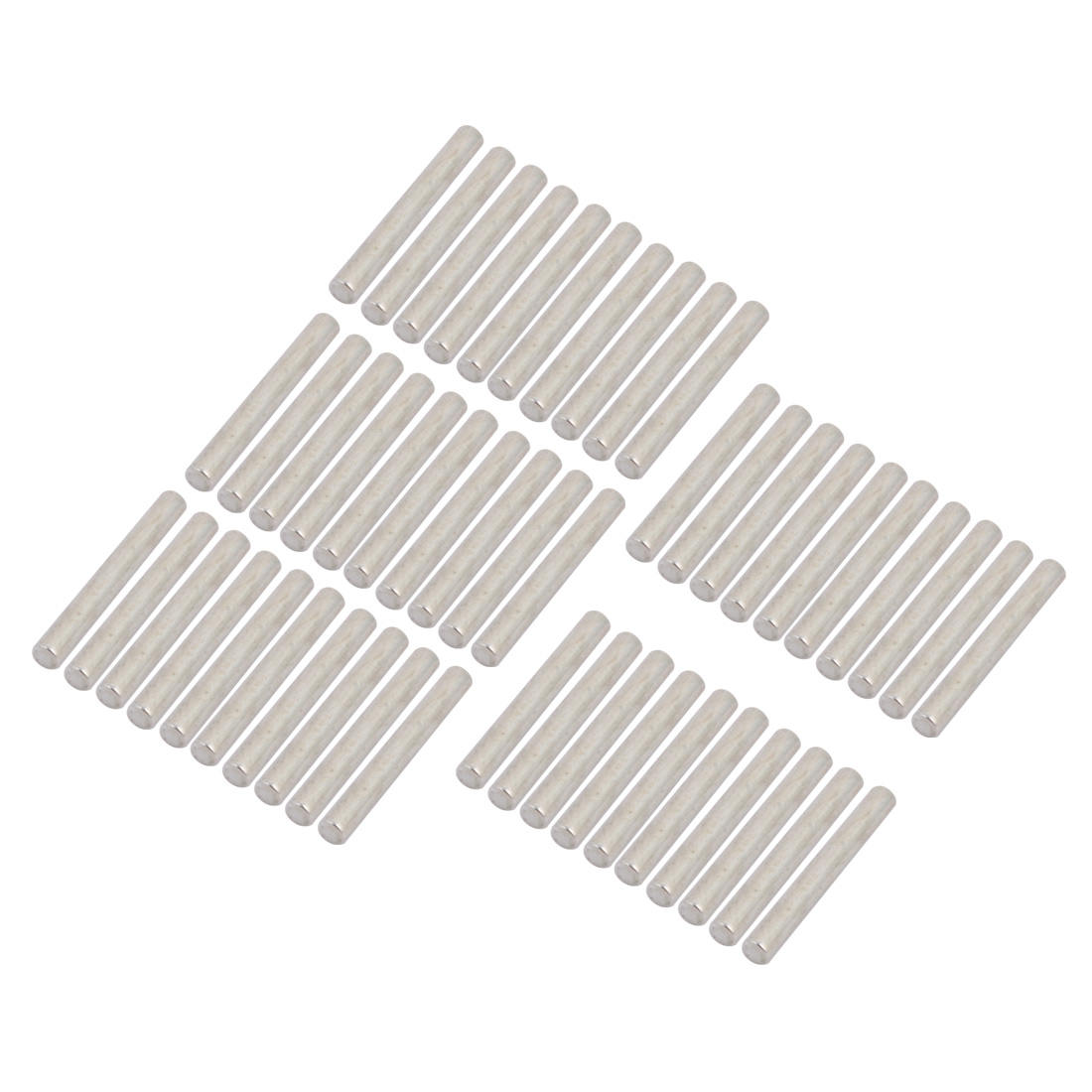 50Pcs Round Shaft Solid Steel Rods Axles 3mm x 25mm Silver Tone