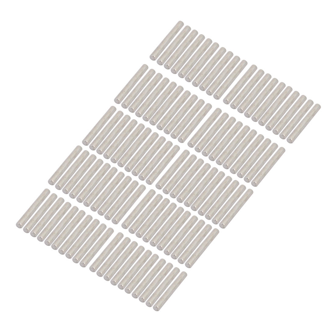 100Pcs Round Shaft Solid Steel Rods Axles 3mm x 25mm Silver Tone