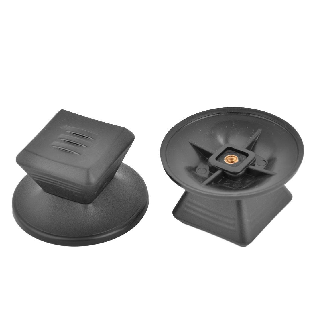 Household Plastic Frying Baking Pan Pot Kettle Lid Knob Handgrip Black 2pcs