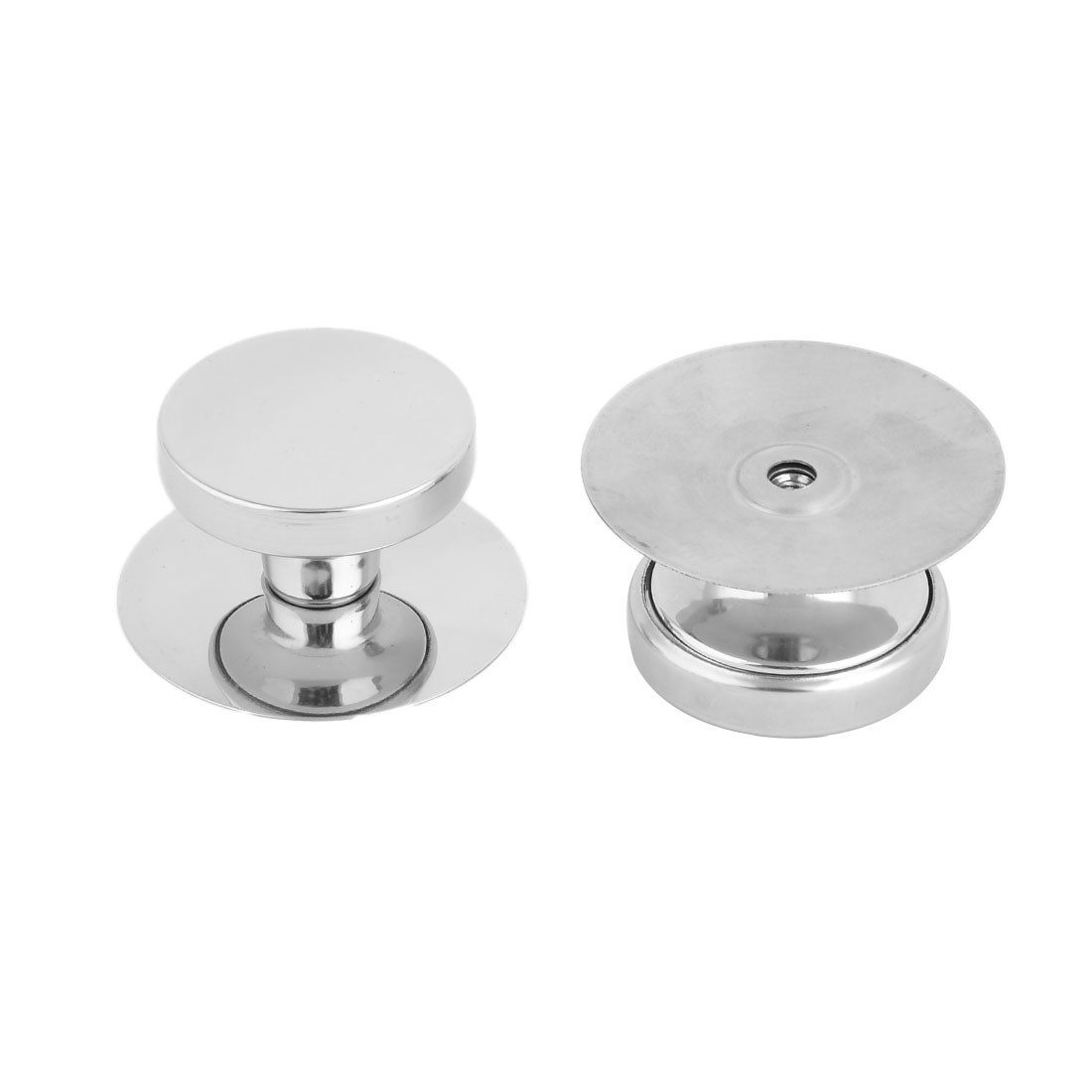 Kitchenware Stainless Steel Heat Resistant Pan Cover Lid Knob Silver Tone 2pcs