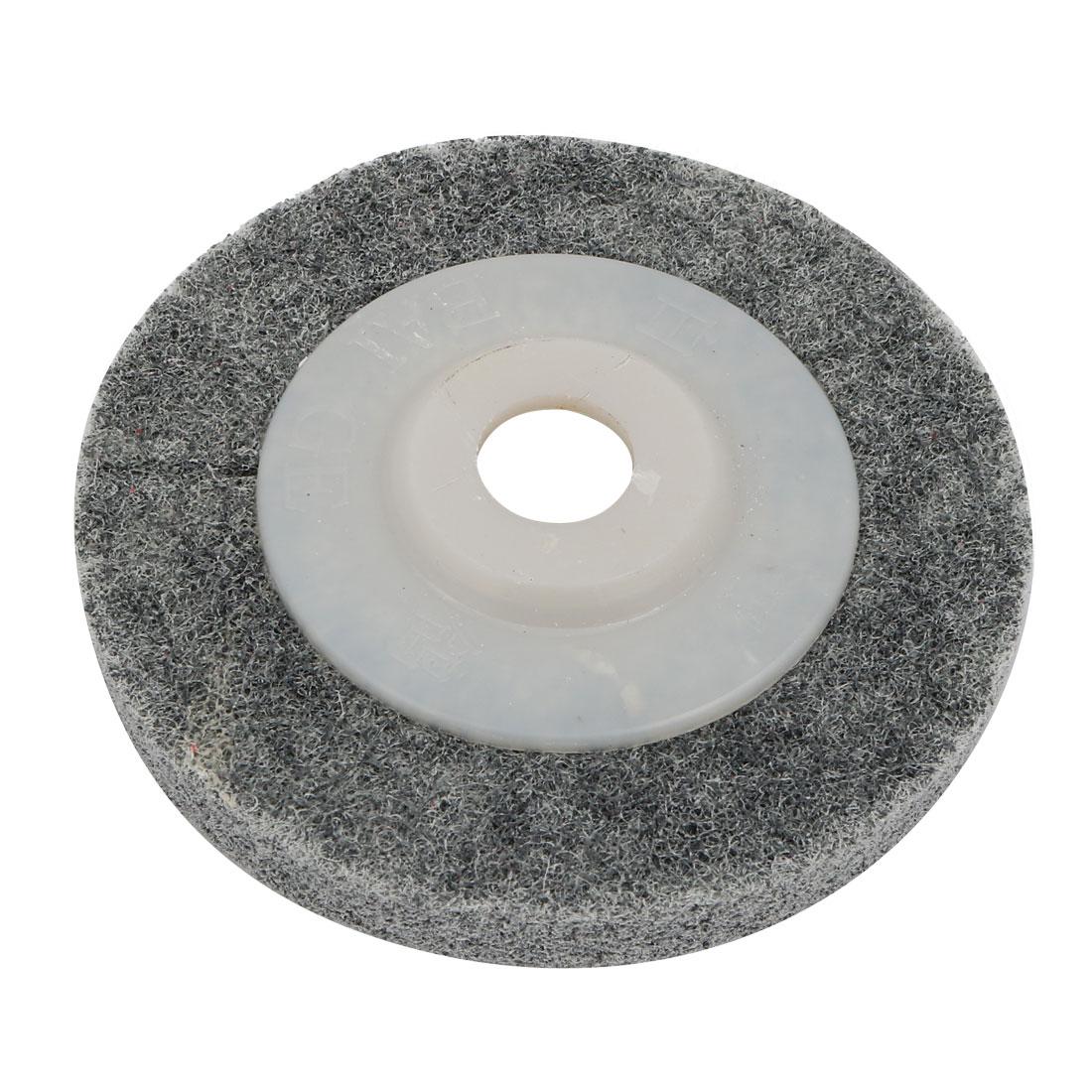 100mm Outer Dia Polishing Wheel Nylon Abrasive Buffing Disc Gray